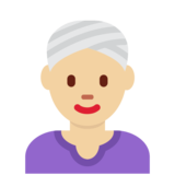 Woman Wearing Turban: Medium-Light Skin Tone on Twitter Twemoji 12.1