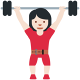 Woman Lifting Weights: Light Skin Tone on Twitter Twemoji 12.1