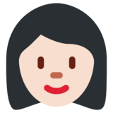 Woman: Light Skin Tone on Twitter Twemoji 12.1