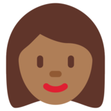 Woman: Medium-Dark Skin Tone on Twitter Twemoji 12.1