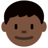 Boy: Dark Skin Tone on Twitter Twemoji 12.1.3