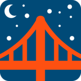Bridge at Night on Twitter Twemoji 12.1.3