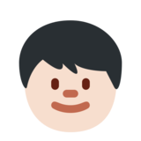 Child: Light Skin Tone on Twitter Twemoji 12.1.3