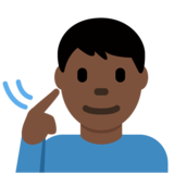 Deaf Man: Dark Skin Tone on Twitter Twemoji 12.1.3