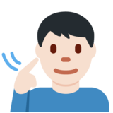 Deaf Man: Light Skin Tone on Twitter Twemoji 12.1.3