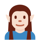 Elf: Light Skin Tone on Twitter Twemoji 12.1.3
