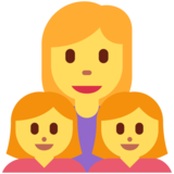 Family: Woman, Girl, Girl on Twitter Twemoji 12.1.3