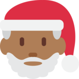Santa Claus: Medium-Dark Skin Tone on Twitter Twemoji 12.1.3