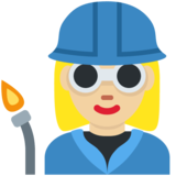 Woman Factory Worker: Medium-Light Skin Tone on Twitter Twemoji 12.1.3
