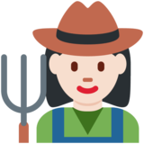 Woman Farmer: Light Skin Tone on Twitter Twemoji 12.1.3