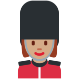Woman Guard: Medium Skin Tone on Twitter Twemoji 12.1.3