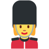 Woman Guard on Twitter Twemoji 12.1.3