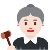 Woman Judge: Light Skin Tone on Twitter Twemoji 12.1.3