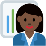 Woman Office Worker: Dark Skin Tone on Twitter Twemoji 12.1.3