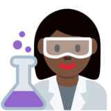 Woman Scientist: Dark Skin Tone on Twitter Twemoji 12.1.3