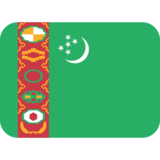 Flag: Turkmenistan on Twitter Twemoji 12.1.3