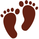 Footprints on Twitter Twemoji 12.1.3