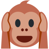 Hear-No-Evil Monkey on Twitter Twemoji 12.1.3