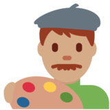 Man Artist: Medium Skin Tone on Twitter Twemoji 12.1.3
