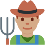 Man Farmer: Medium Skin Tone on Twitter Twemoji 12.1.3