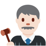 Man Judge: Light Skin Tone on Twitter Twemoji 12.1.3