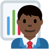 Man Office Worker: Dark Skin Tone on Twitter Twemoji 12.1.3
