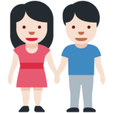 Woman and Man Holding Hands: Light Skin Tone on Twitter Twemoji 12.1.3
