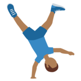 Man Cartwheeling: Medium-Dark Skin Tone on Twitter Twemoji 12.1.3