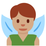 Man Fairy: Medium Skin Tone on Twitter Twemoji 12.1.3