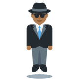 Person in Suit Levitating: Medium-Dark Skin Tone on Twitter Twemoji 12.1.3