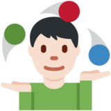 Man Juggling: Light Skin Tone on Twitter Twemoji 12.1.3