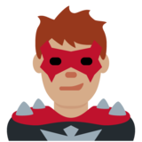 Man Supervillain: Medium Skin Tone on Twitter Twemoji 12.1.3