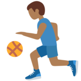 Man Bouncing Ball: Medium-Dark Skin Tone on Twitter Twemoji 12.1.3