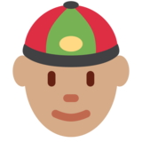 Person With Skullcap: Medium Skin Tone on Twitter Twemoji 12.1.3