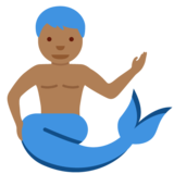 Merman: Medium-Dark Skin Tone on Twitter Twemoji 12.1.3