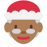 Mrs. Claus: Medium-Dark Skin Tone on Twitter Twemoji 12.1.3