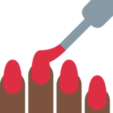 Nail Polish: Dark Skin Tone on Twitter Twemoji 12.1.3