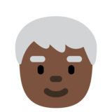 Older Person: Dark Skin Tone on Twitter Twemoji 12.1.3