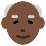 Old Man: Dark Skin Tone on Twitter Twemoji 12.1.3