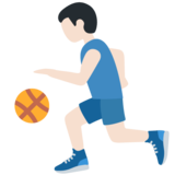 Person Bouncing Ball: Light Skin Tone on Twitter Twemoji 12.1.3