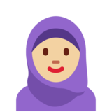 Woman with Headscarf: Medium-Light Skin Tone on Twitter Twemoji 12.1.3