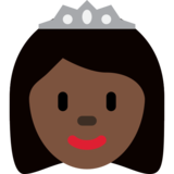 Princess: Dark Skin Tone on Twitter Twemoji 12.1.3