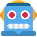 Robot on Twitter Twemoji 12.1.3