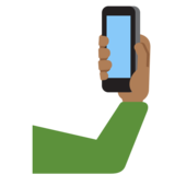 Selfie: Medium-Dark Skin Tone on Twitter Twemoji 12.1.3