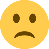 Slightly Frowning Face on Twitter Twemoji 12.1.3