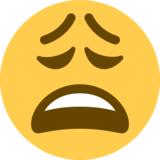 Weary Face on Twitter Twemoji 12.1.3