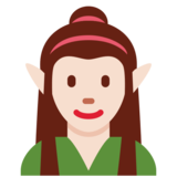 Woman Elf: Light Skin Tone on Twitter Twemoji 12.1.3