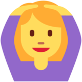 Woman Gesturing OK on Twitter Twemoji 12.1.3