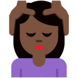 Woman Getting Massage: Dark Skin Tone on Twitter Twemoji 12.1.3