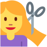 Woman Getting Haircut on Twitter Twemoji 12.1.3